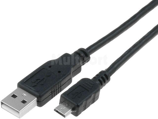 Kabel USB 2.0 A wtyk - USB B micro wtyk 1,5m czarny VCOM