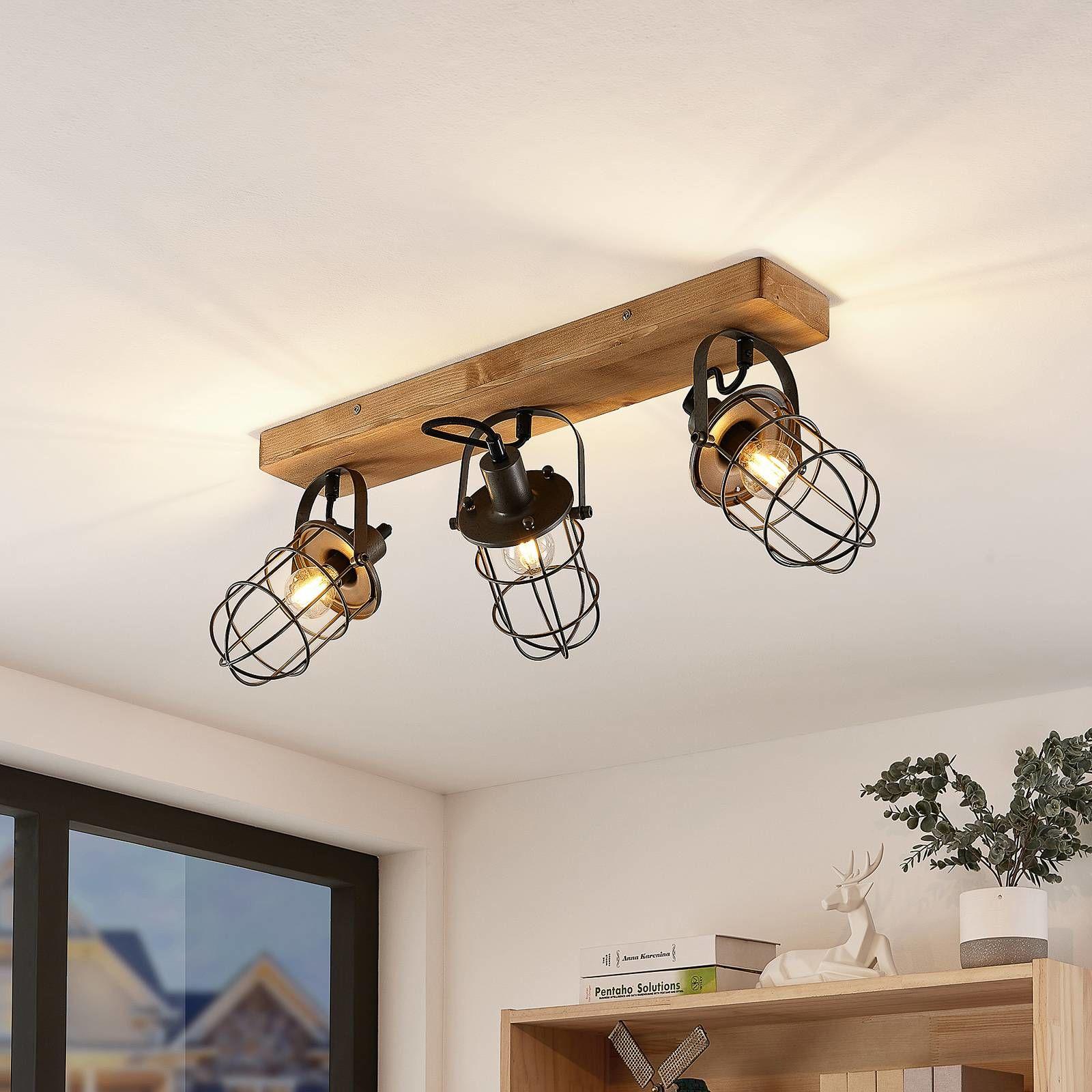 Lindby Serima lampa sufitowa, trzy klatkowe klosze