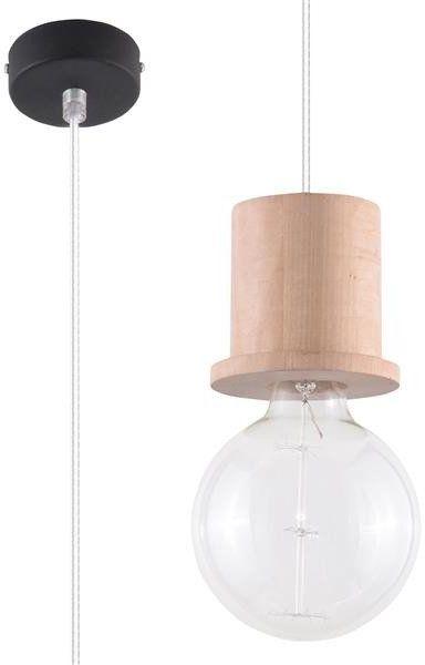 Nowoczesna lampa wisząca MILO SL.0284 1xE27 drewno