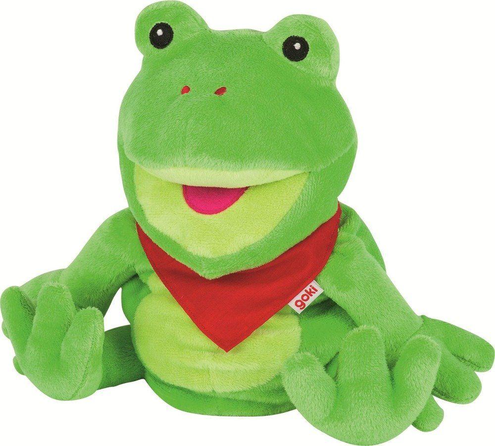 Żaba, pluszowa pacynka na rękę, goki