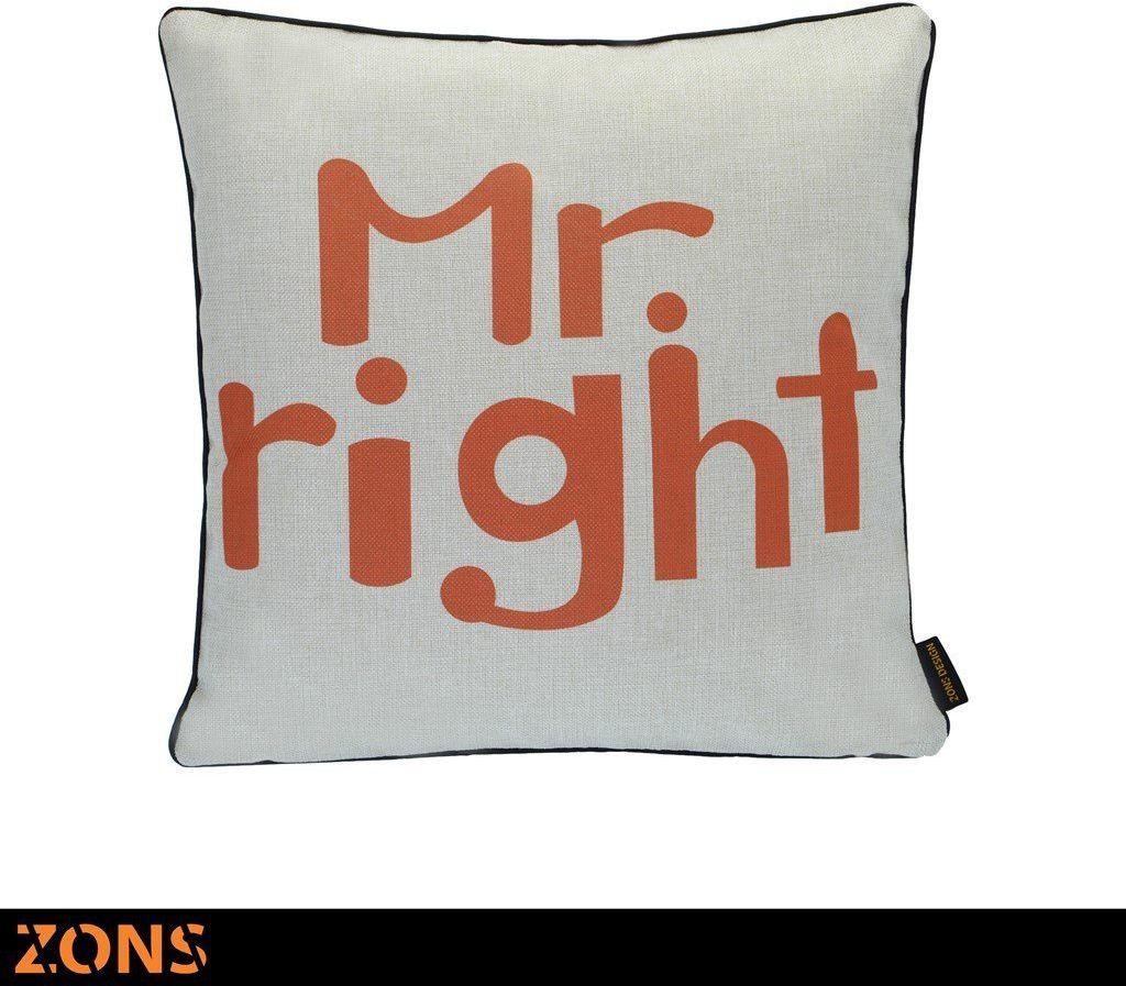 Napis Poduszka pomarańczowa 6 wzorów 45 x 45 cm + wypełnienie 450 g (mright)