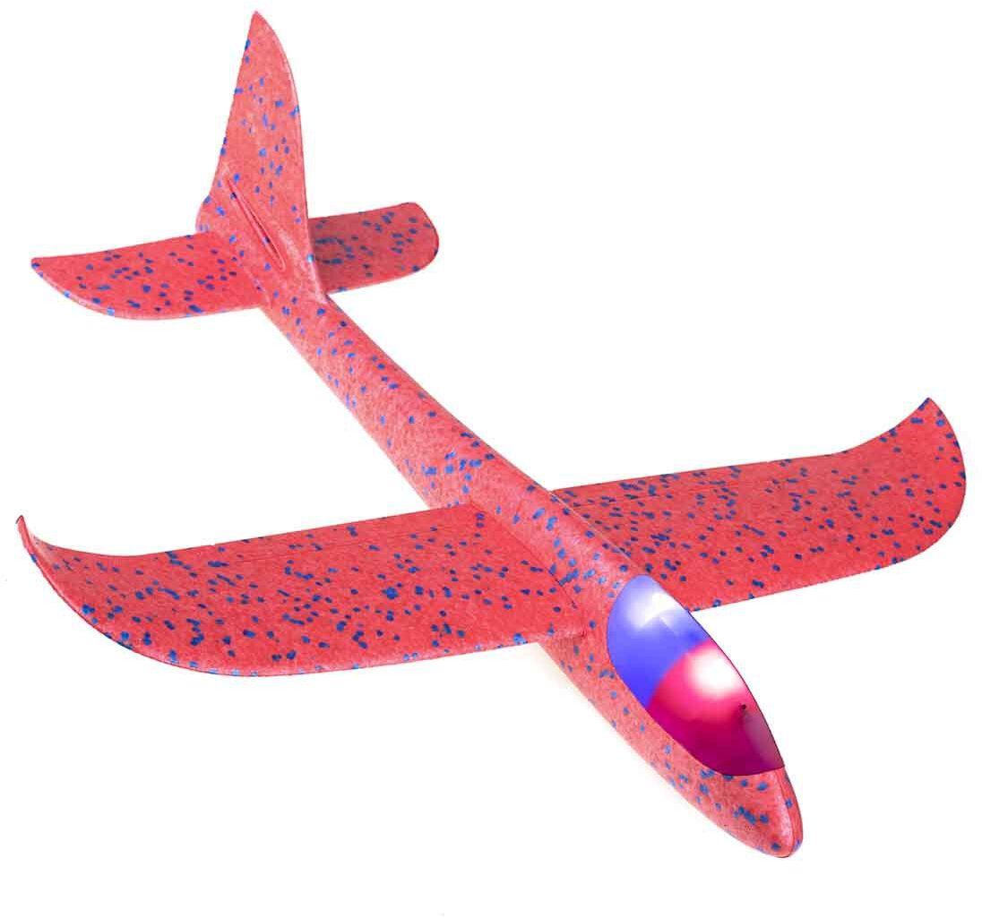 Szybowiec Samolot styropianowy 2LED 48x47cm mix kolorów