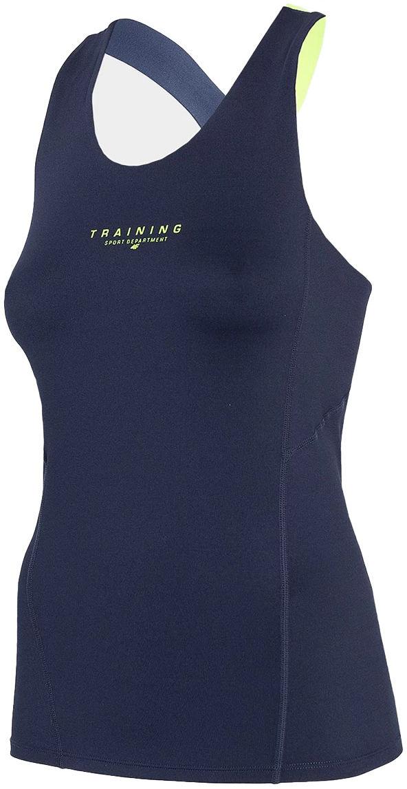 Koszulka funkcyjna damska bez rękawów 4F TSDF018 - granat (H4L21-TSDF018-30S)