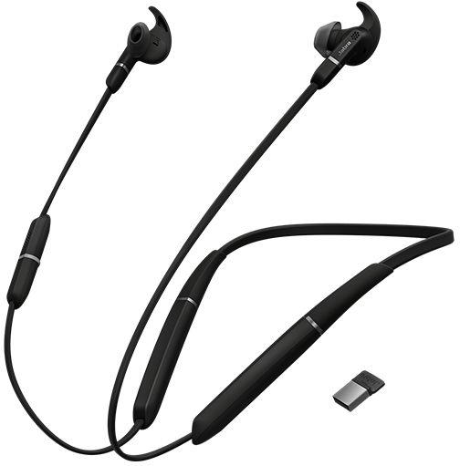 Jabra Evolve 65e UC & Link 370 Zestaw słuchawkowy Douszny, Opaska na