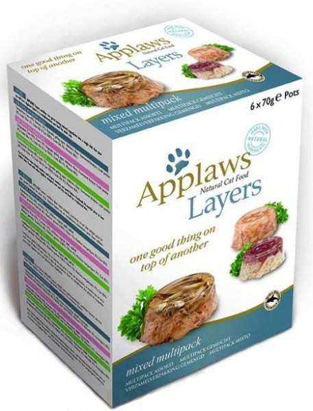 Applaws Multipack Tasty Jelly Selection - mix miseczek w galaretce 6x70g