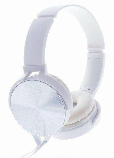 Rebeltec Słuchawki stereo z mikrofonem Montana Białe