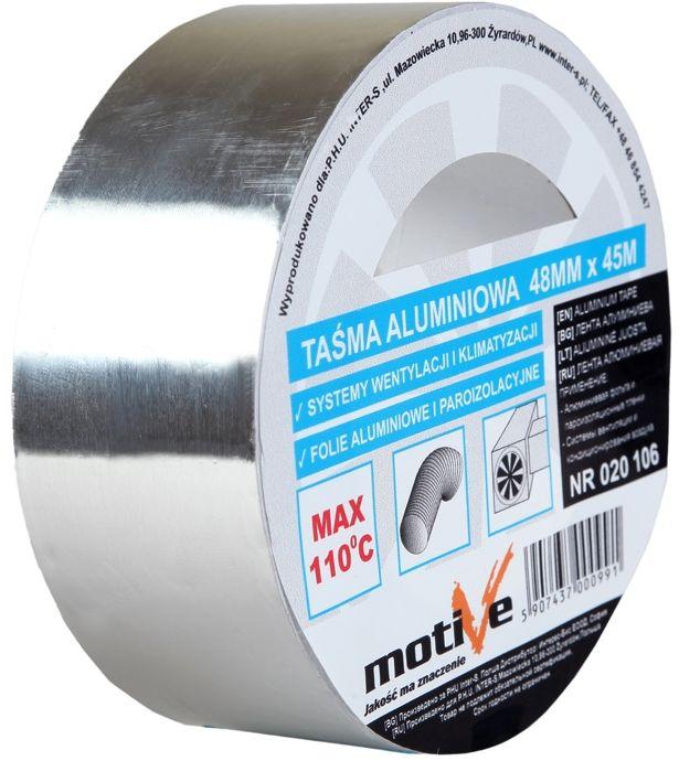 Taśma do wentylacji aluminiowa 48mmx45m