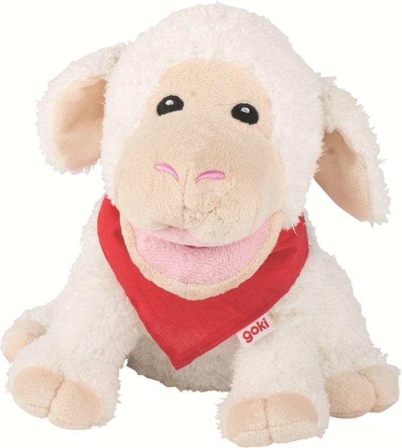 Owca, pluszowa pacynka na rękę, goki