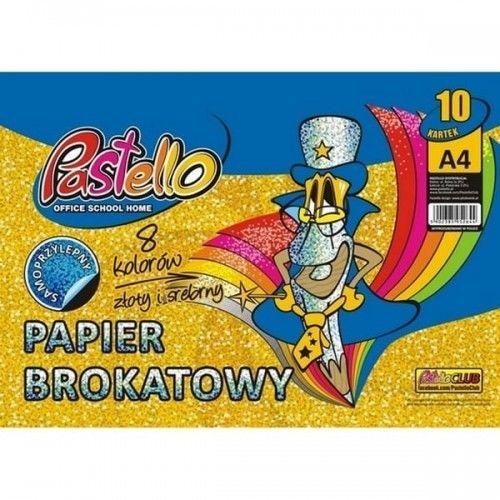 Papier kolorowy samoprzylepny z brokatem A4 10 kolorów /PAS-2644/