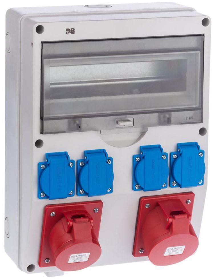 Rozdzielnica elektryczna bez wyposażenia 6250 - 01 / RS 1/12 4 X 2P + Z 2 X 3P + N + Z 16 / 3 ELEKTRO-PLAST