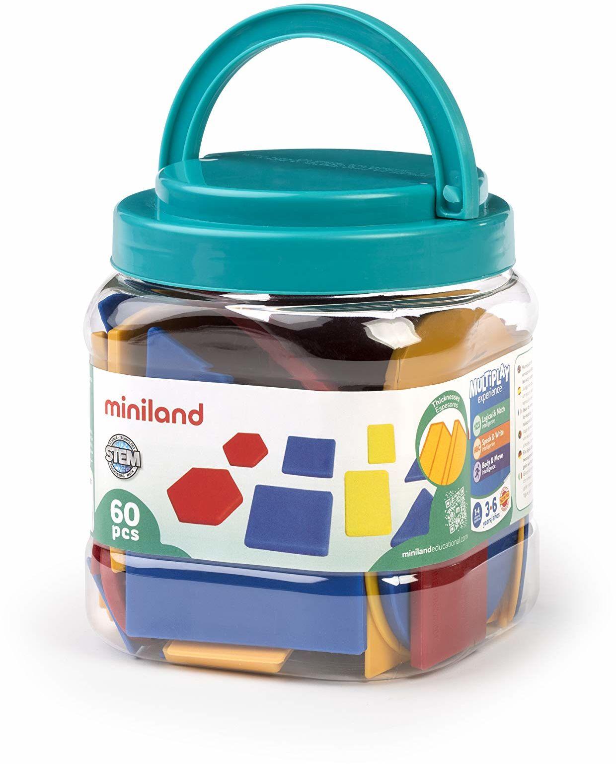 Miniland Miniland95044 zestaw bloków logicznych 95044, wielokolorowy