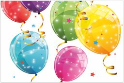 Procos 88151  obrus, Sparkling Balloons, 120 x 180 cm, plastik, urodziny, impreza tematyczna
