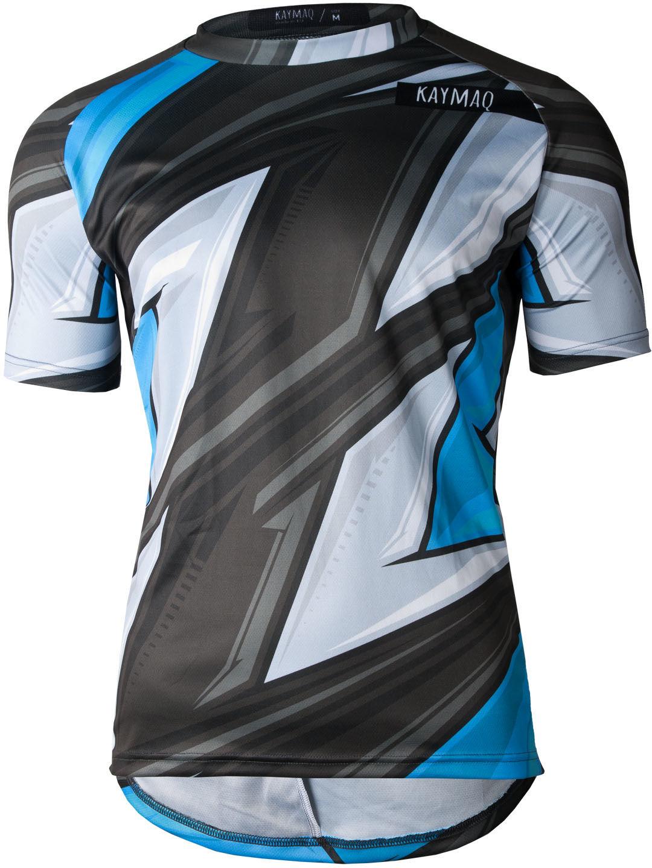 KAYMAQ DESIGN M43 męska luźna koszulka rowerowa MTB niebieska Rozmiar: XL,KMQ-MTB-M43-niebieska