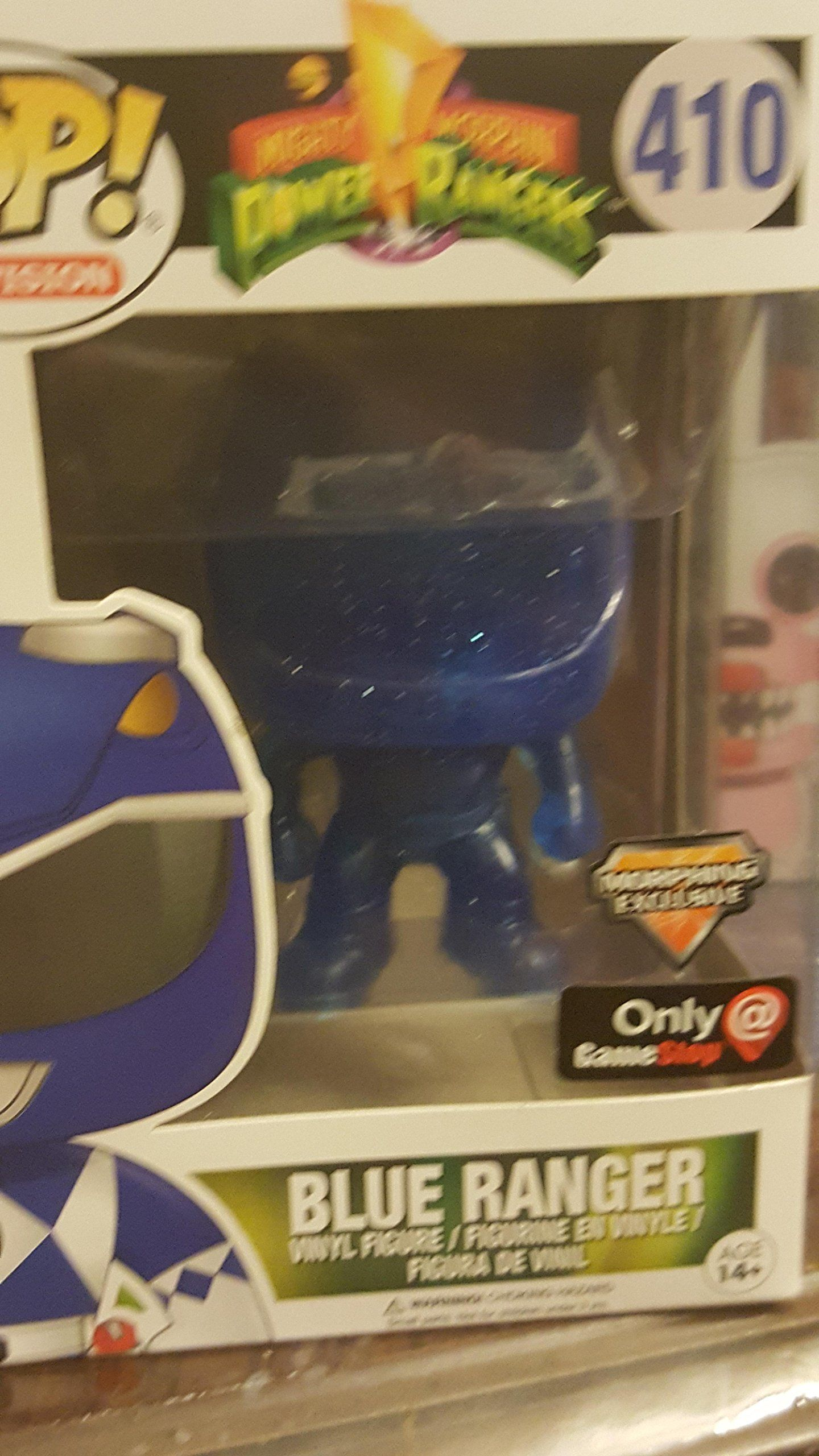 Power Rangers - Blue Ranger Morphing Clear Pop! Vinyl Funko