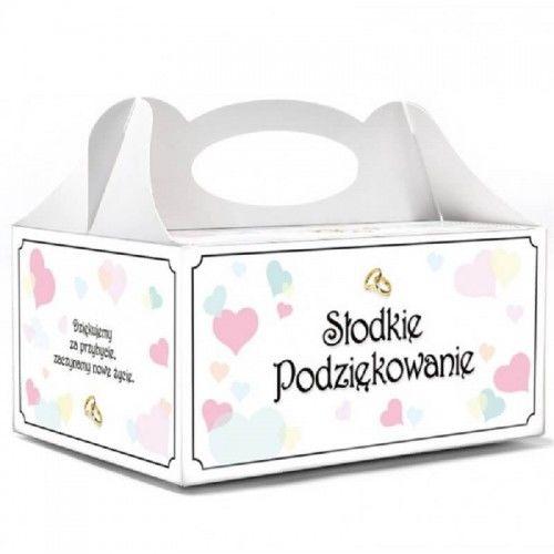 Pudełko na ciasto weselne Pastelove Serca