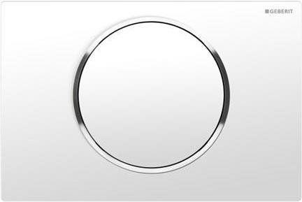 Sigma10 Geberit przycisk uruchamiający przedni do spłuczek podtynkowych UP320 biały/chrom błyszczący/biały - 115.758.KJ.5