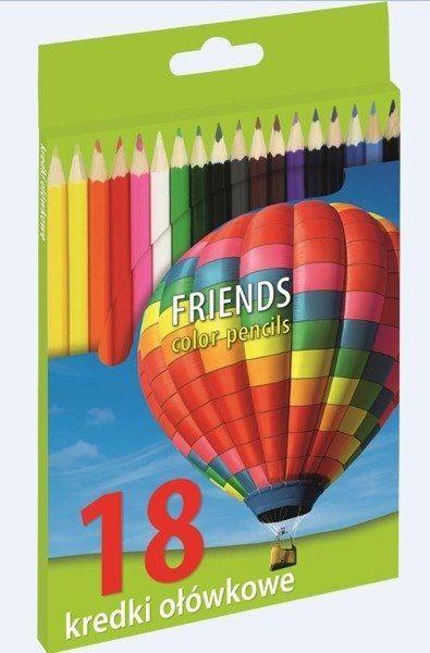 Kredki ołówkowe 18 kolorów INIONL - Grand