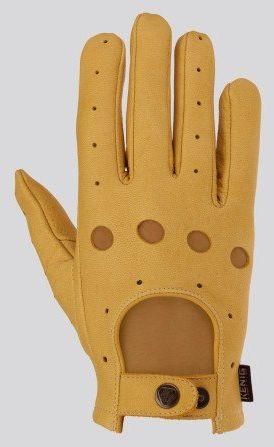 Rękawiczki ze skóry licowej z jelenia RETRO- KENIG