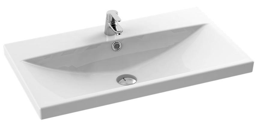 New Trendy umywalka ceramiczna z otworem na baterię 90 cm U-0091