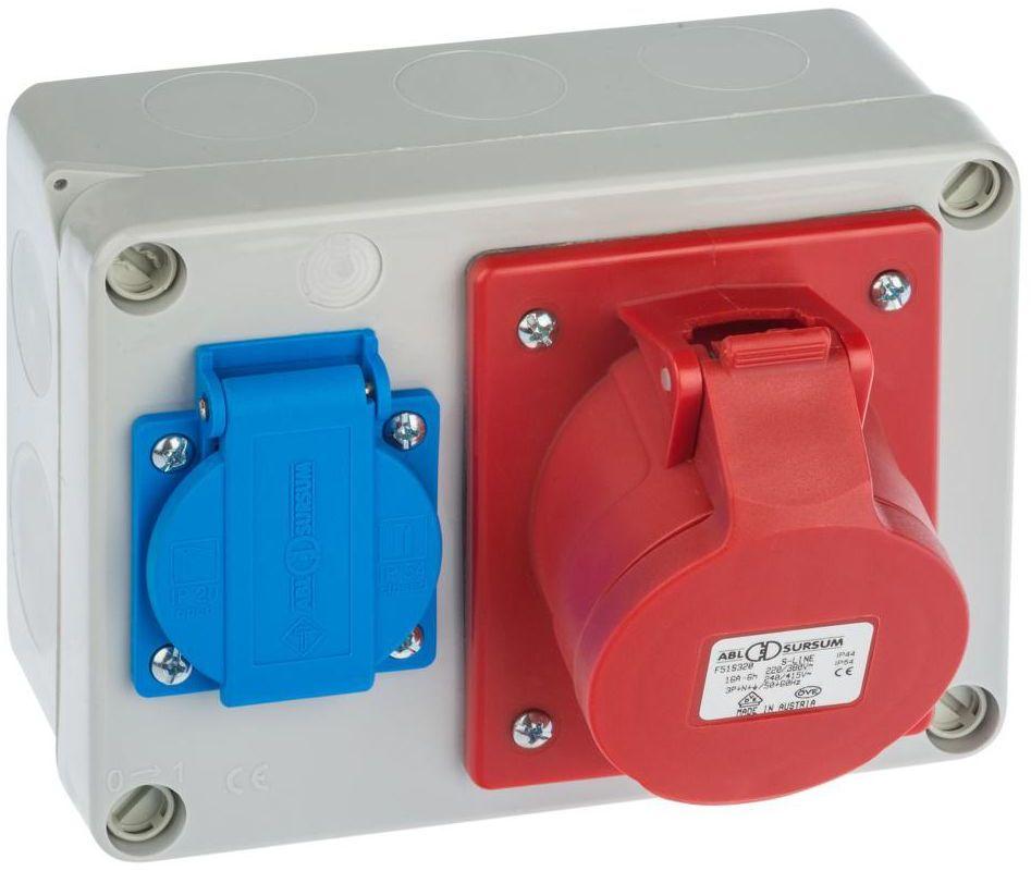 Rozdzielnica elektryczna bez wyposażenia RS 6261 - 00 / 2P + Z 3P + N + Z 16A ELEKTRO-PLAST