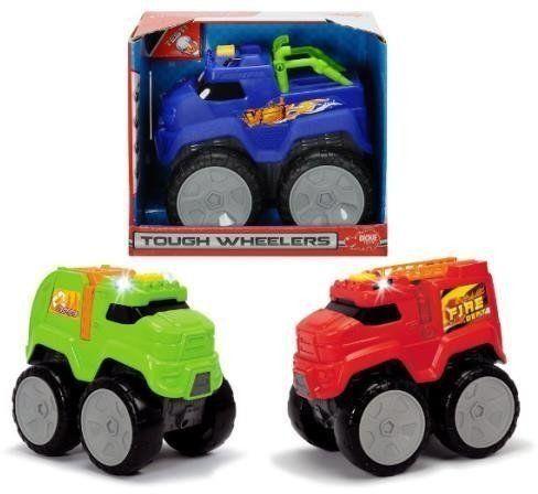 Auto Tough Wheelers z dźwiękiem, 3 rodzaje - Dickie Toys