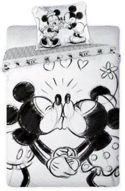 Pościel licencyjna 160x200 Love Miki i Minnie