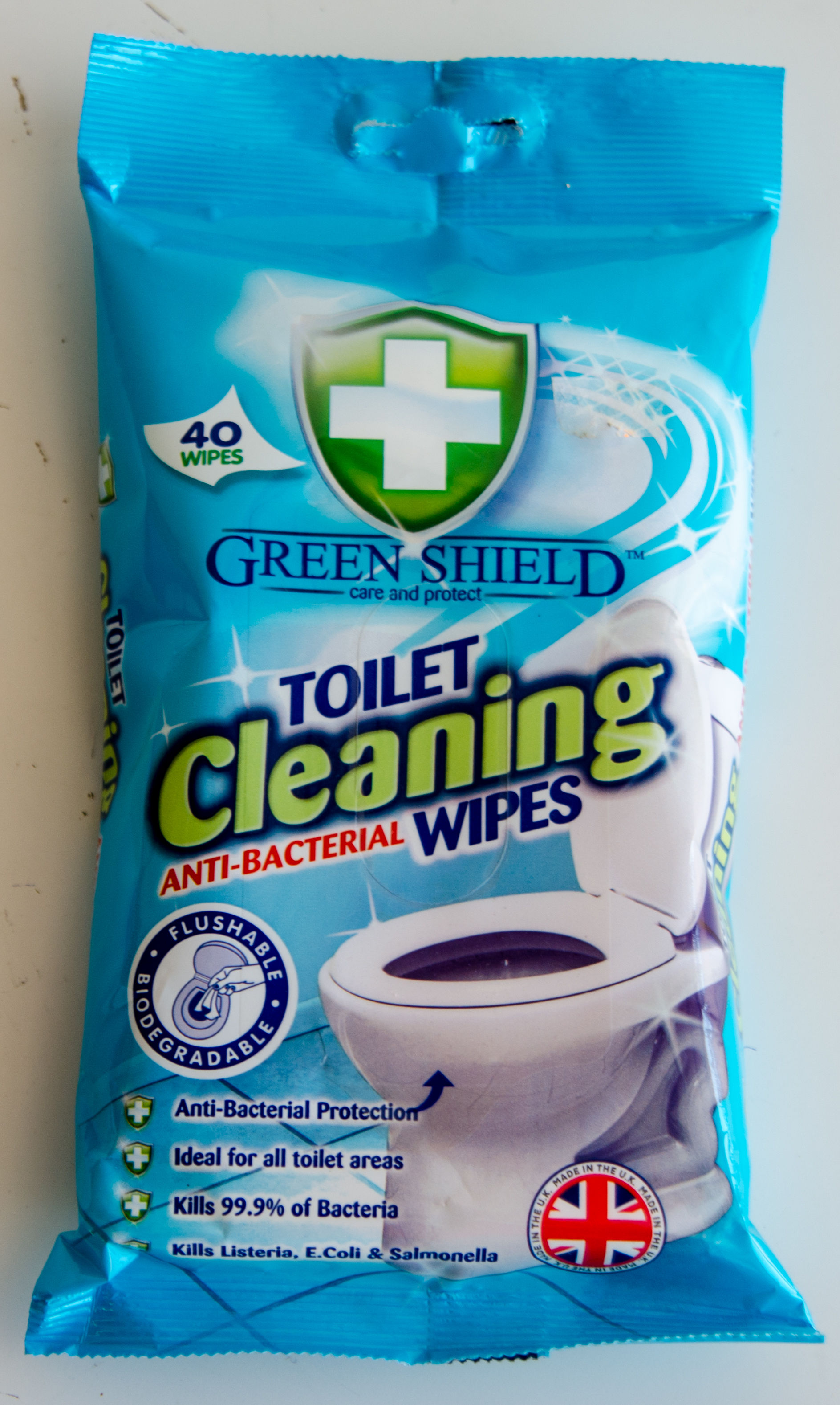 Chusteczki Do Czyszczenia Toalet Green Shield 40Szt