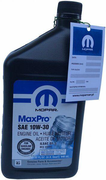 Olej silnikowy 10W30 MOPAR GF-5 MS-6395 0,946l