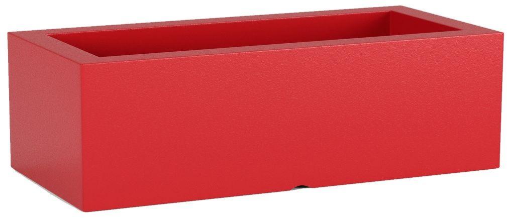 Donica z polietylenu OFFICE POT M czerwony