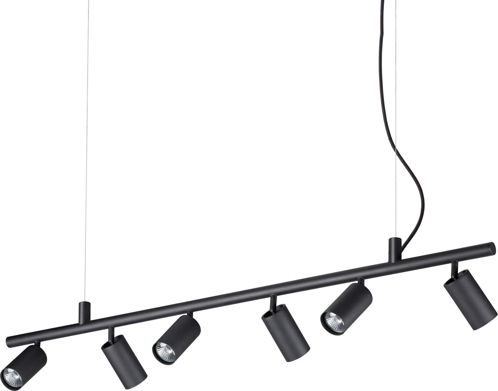 Lampa wisząca Dynamite 231396 Ideal Lux nowoczesna lampa w kolorze czarnym