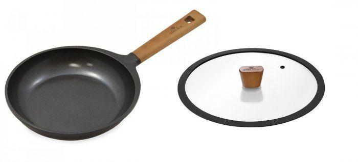 Zestaw Gerlach Patelnia z powłoką ceramiczną Natur 28 cm + pokrywka