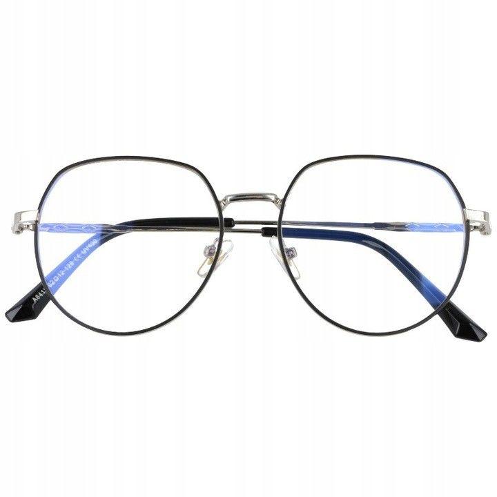 Okulary Lenonki z filtrem światła niebieskiego do komputera zerówki 2533-2