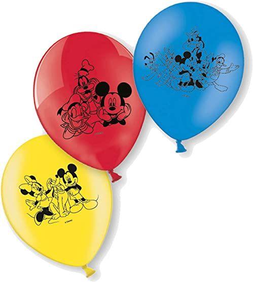 6 balonów z lateksu Myszka Miki