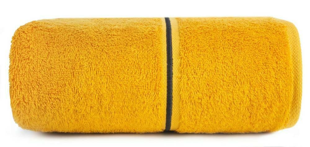 Ręcznik Bambo 50x90 musztardowy bambusowy 500g/m2 frotte Eurofirany