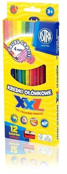 Kredki ołówkowe hexagonalne 12 kolorów ASTRA