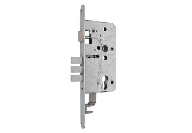 Zamek drzwiowy ZTO 72/55 WB pod cięgna ocynk biały do drzwi KMT