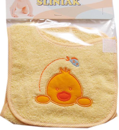 Zestaw 2 śliniaków niemowlęcych na rzep Kurczak
