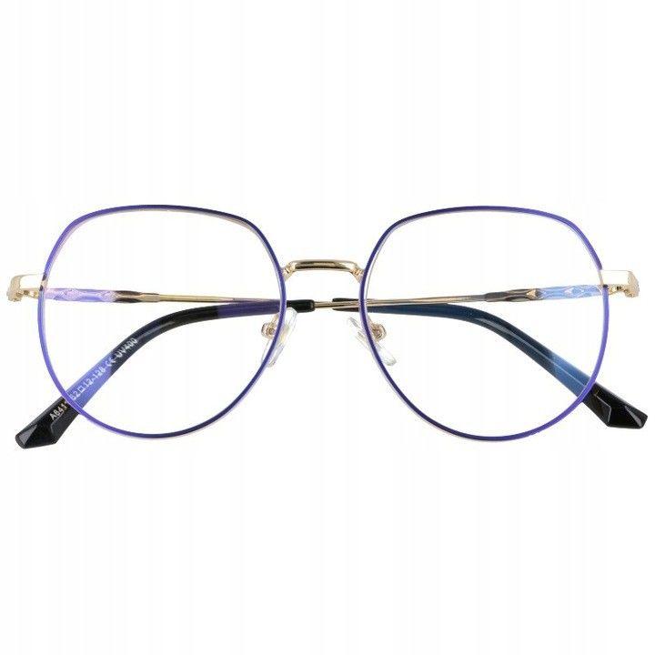 Okulary Lenonki z filtrem światła niebieskiego do komputera zerówki 2533-3
