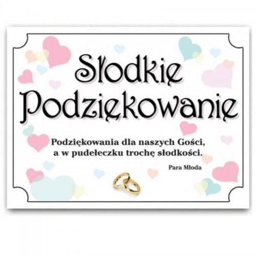 Etykieta na ciasto weselne, podziękowanie dla gości, Pastelove Serca, 25 szt.