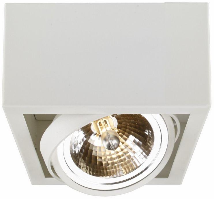 Lampa sufitowa Cube 1 70351101 oprawa biała Kaspa