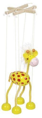 Drewniana marionetka żyrafa, goki