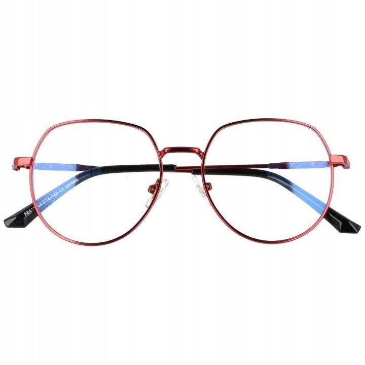 Okulary Lenonki z filtrem światła niebieskiego do komputera zerówki 2533-4
