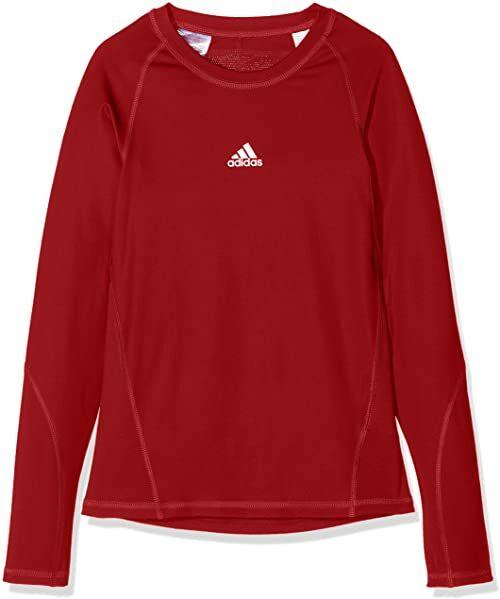 adidas Alphaskin dziecięca koszulka funkcyjna z długim rękawem czerwony czerwony (Power Red) 116