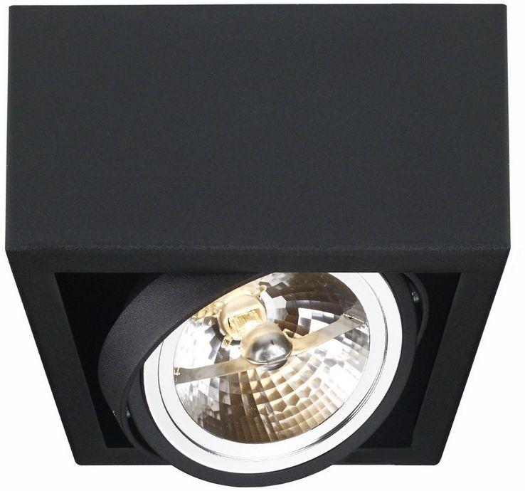 Lampa sufitowa Cube 1 70357102 oprawa czarna Kaspa