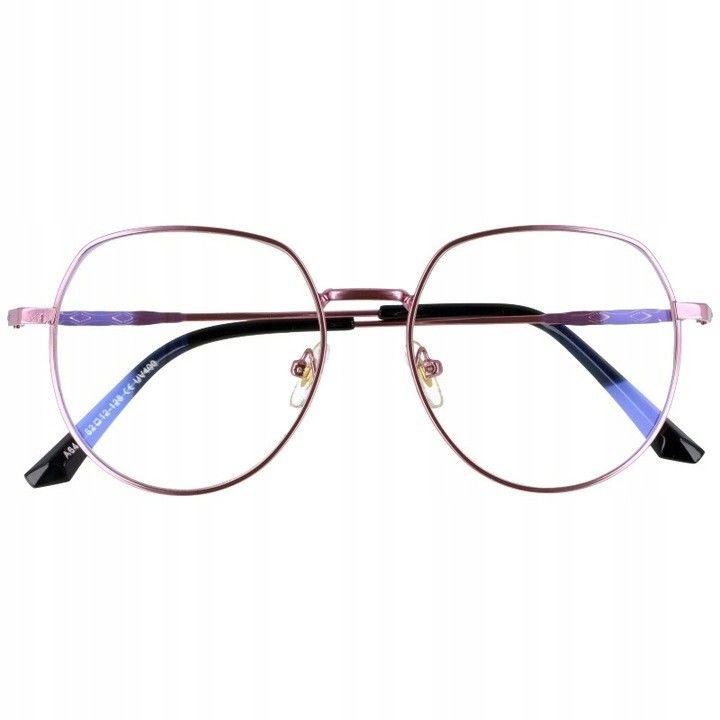 Okulary Lenonki z filtrem światła niebieskiego do komputera zerówki 2533-5