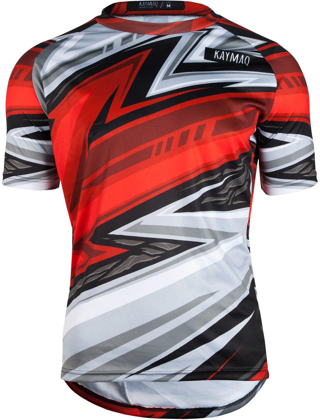 KAYMAQ DESIGN M50 męska luźna koszulka rowerowa MTB czerwona Rozmiar: XL,KMQ-MTB-M50-red