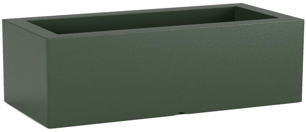 Donica z polietylenu OFFICE POT M zielony