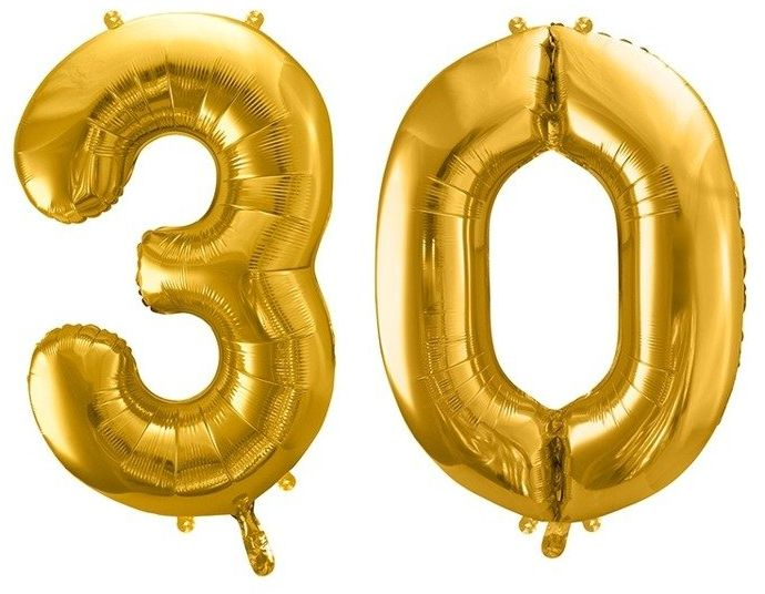 Balony foliowe 30 złote 86cm FB1M-30-019