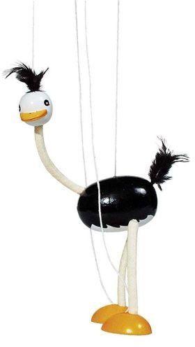 Drewniana marionetka struś, goki