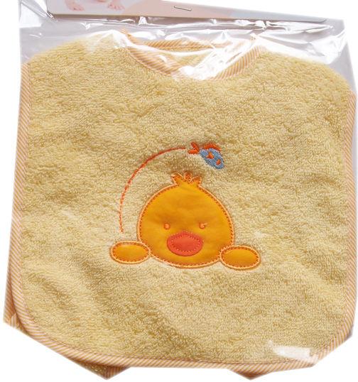 Zestaw 2 śliniaków niemowlęcych na rzep Kurczak rozmiar duży